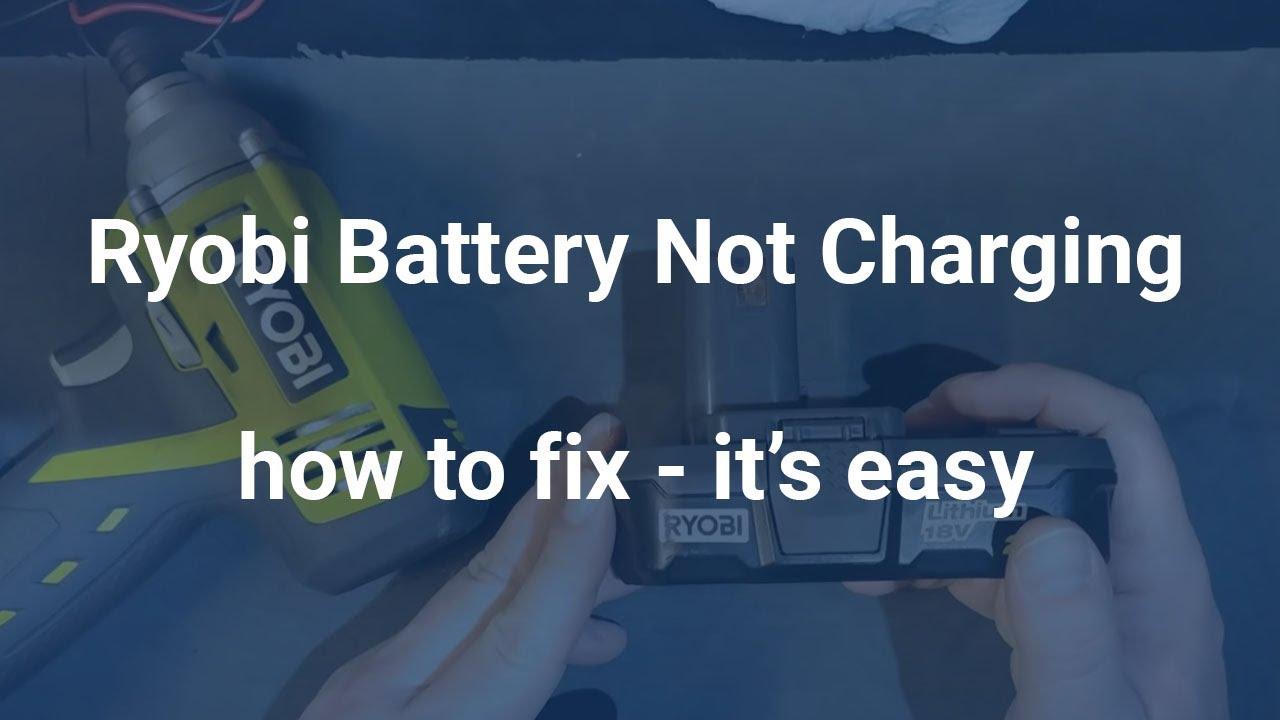 Ryobi Battery Not Charging Repair A Ryobi Lithium Batteries To Charge Again Youtube Ryobi Battery Ryobi Cordless Drill Batteries