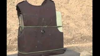 Body Armour Tested With Various Guns Including An Uzi And A Magnum