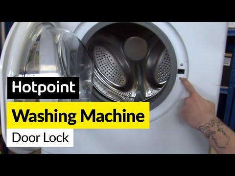 How to fix a washing machine door lock in a Hotpoint washing machine Washing Machine Door Lock Wiring Diagram on