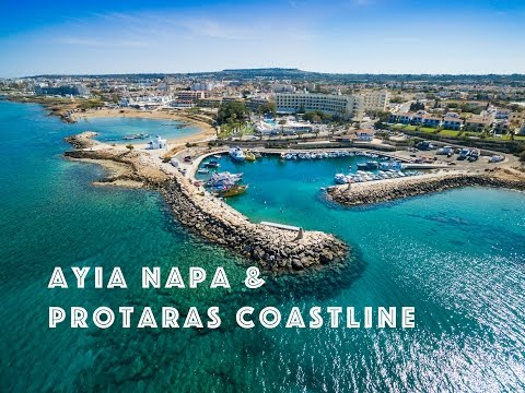 Agia Napa Beach and Protaras Coastline in 4K
