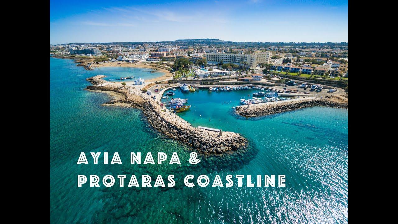 Agia Napa Beach and Protaras Coastline in 4K  YouTube