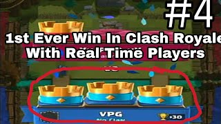First Win Ever In Clash Royale | Clash Royale Gameplay Part 4. thumbnail