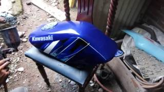 Tutorial menge clear/finishing tangki motor biar kinclong by:Sand'Z Paint