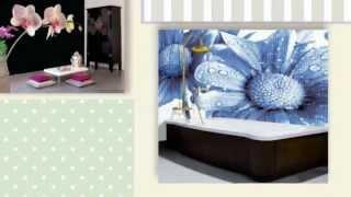 видео Художественное оформление интерьера - фрески, роспись стен, фотообои на стену