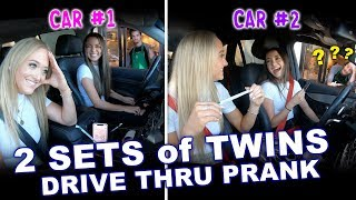 Download 2 Sets of Identical Twins Drive Thru Prank ft. Rybka Twins - Merrell Twins Mp3 and Videos
