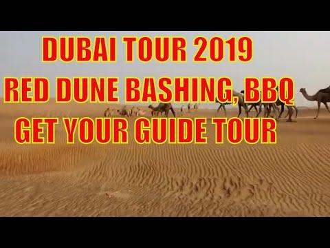 Dubai Evening Tour, BBQ, Red Dune Bashing, Sandboarding 2019, Get Your Guide Tour
