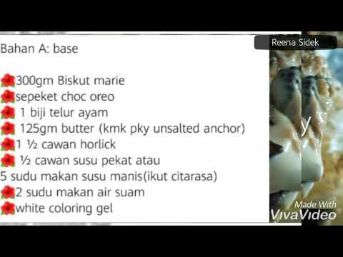 Resepi Kek Batik Horlick Chewy Youtube