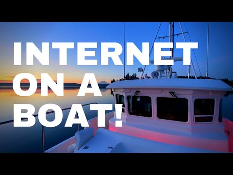 How to get INTERNET on a boat + WeBoost cell booster performance review [NORDHAVN 43]