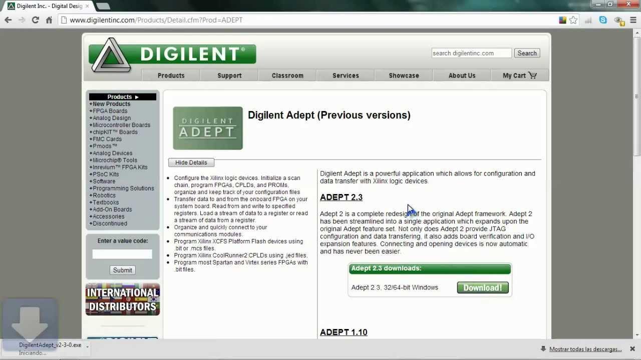 Descargar Adept-DIGILENT