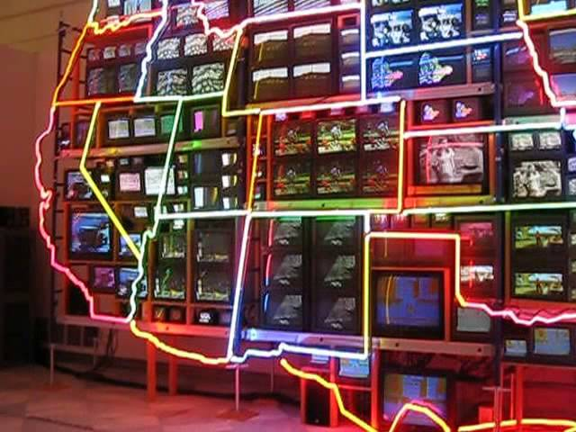 Electronic Superhighway By Nam June Paik Youtube