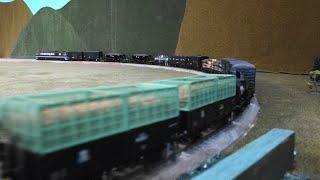【16番(HO)】DF50(茶)牽引・貨物列車