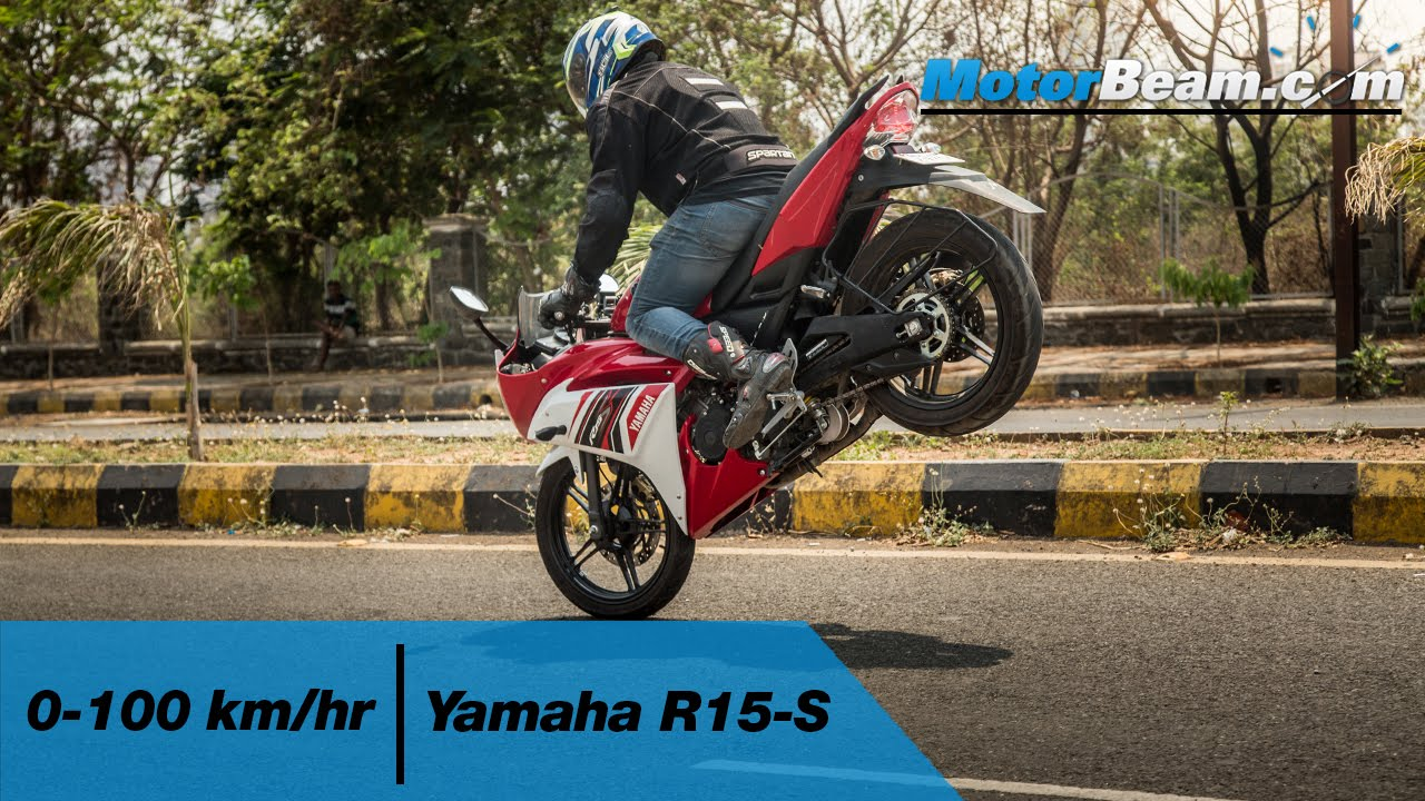 Yamaha R15-S 0-100 Km/hr & Top Speed