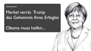 Witz lustig - Merkel Trump Obama