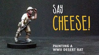 Say cheese: Painting a WWII Desert Rat
