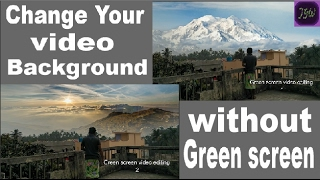 Video background change | how to change video background without green screen in Filmora