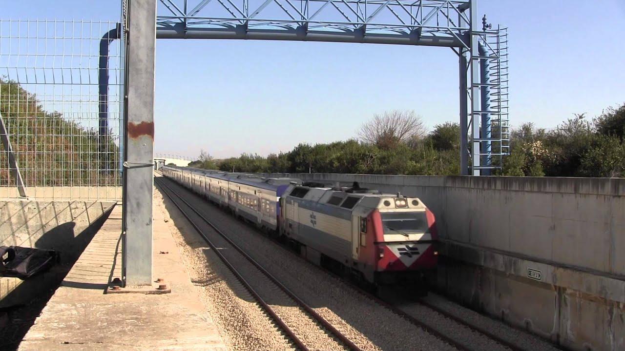train from ben gurion airport towards tel aviv  israel