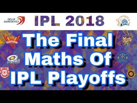 IPL 2018 : Final Maths Of Playoffs For All Teams | CSK ,RR ,DD ,MI ,KXIP ,KKR ,SRH ,RCB