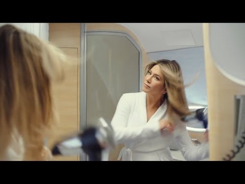 Emirates ad Jennifer Aniston TV commercial airbus A380