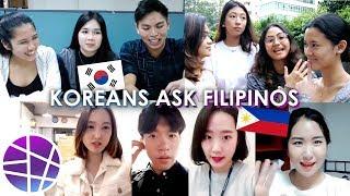 "Koreans Ask Filipinos ""ENGLISH vs. FILIPINO?"" | EL's Planet"