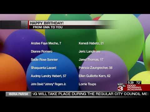 Today's Birthdays 10/15/19
