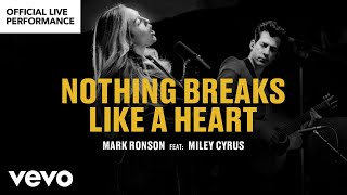 "Mark Ronson ft. Miley Cyrus - ""Nothing Breaks Like a Heart""  Performance 