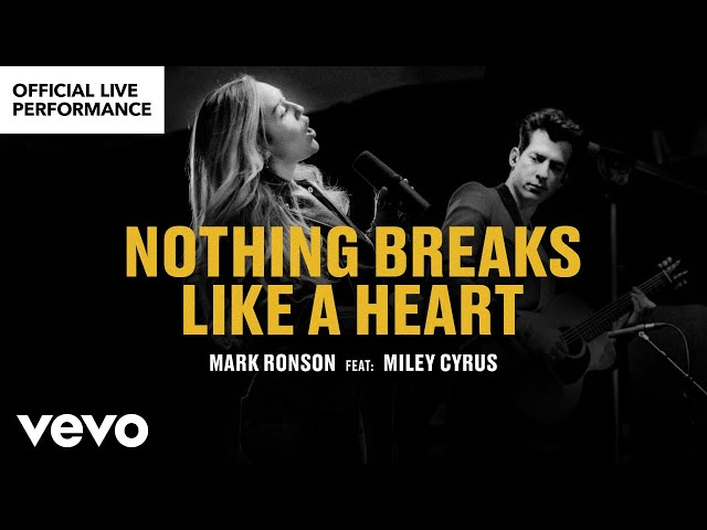 Mark Ronson ft Miley Cyrus - Nothing Breaks Like a Heart Offi