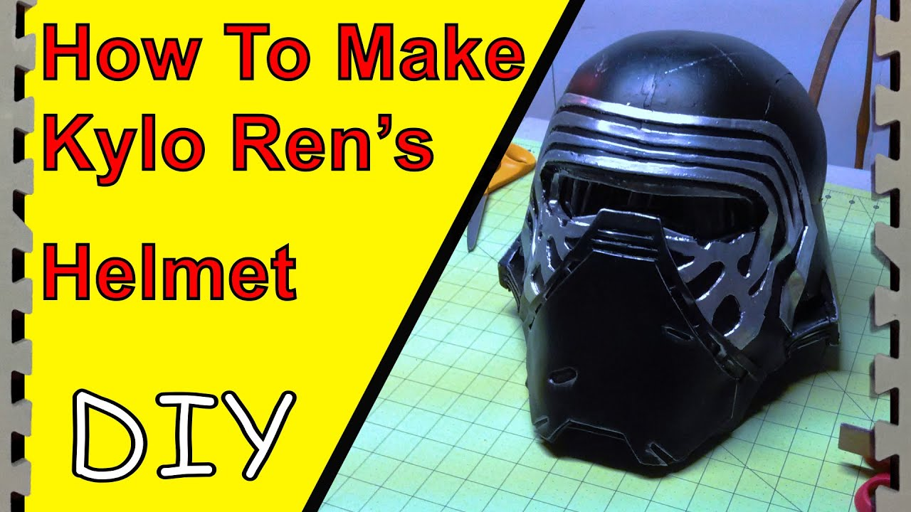 How to Make Kylo Ren\'s Helmet/Mask (Tutorial) - YouTube