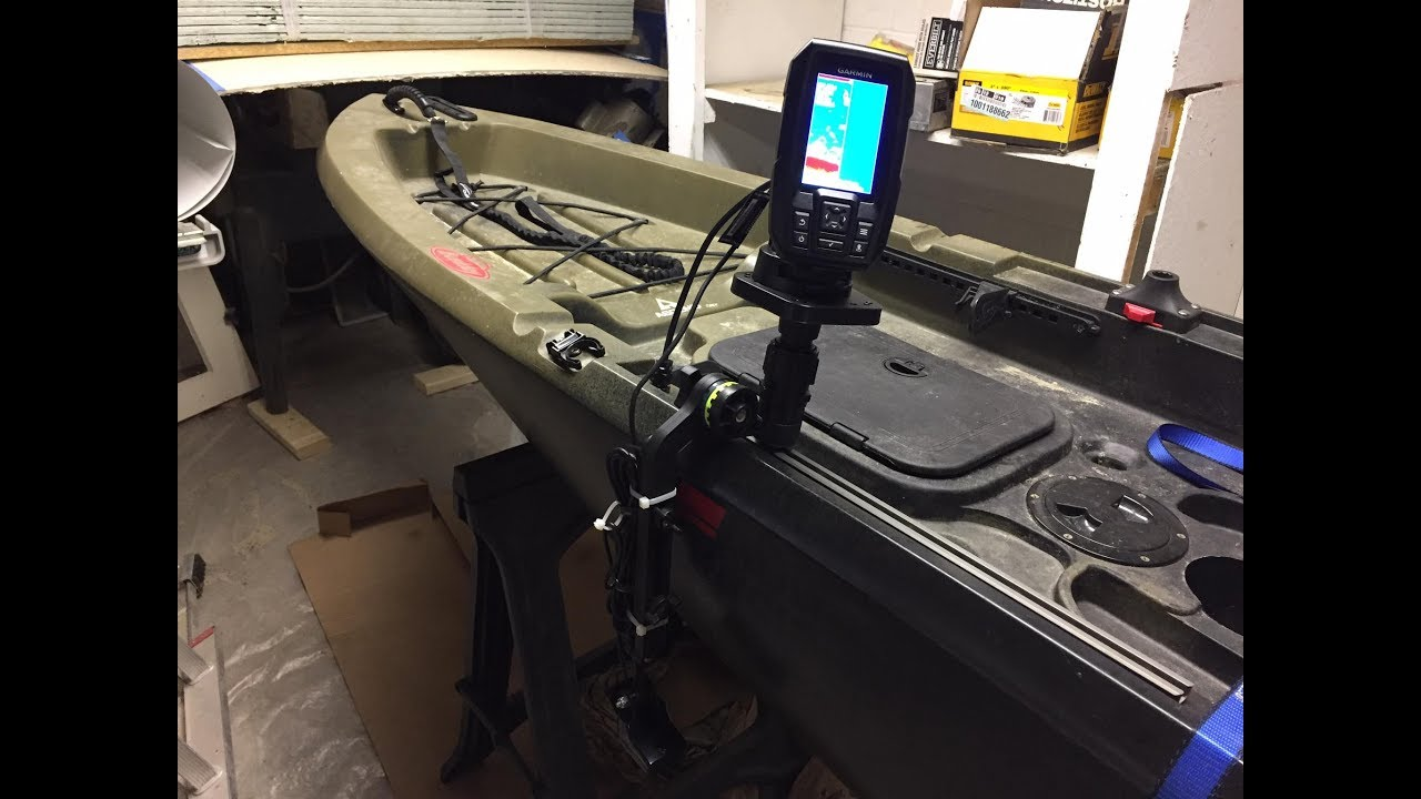 Scotty transducer mount and fishfinder mount install part for Kayak fish finder install