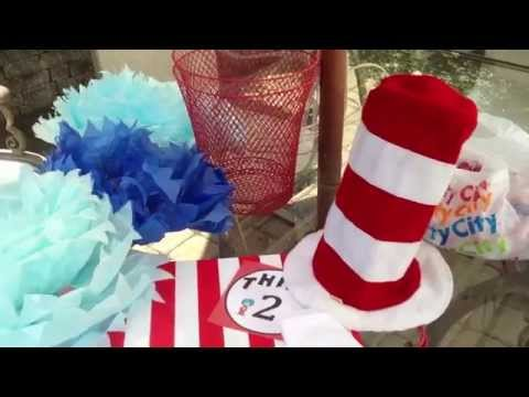 The Cat in The Hat ~ Party Bags ~ Party Centerpieces ~ Party Favors!