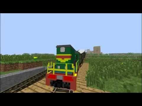 ☣Моя карта : железная дорога (мод Traincraft)#1 ☣