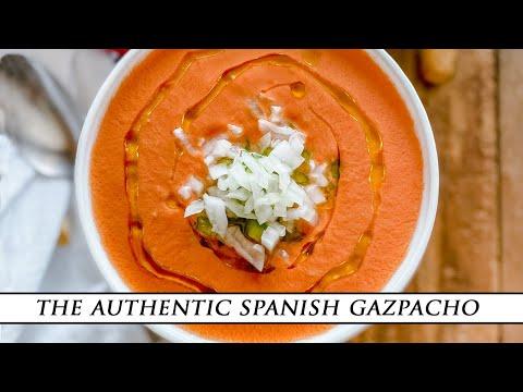 Authentic Spanish Gazpacho Recipe ¨Gazpacho Andaluz¨