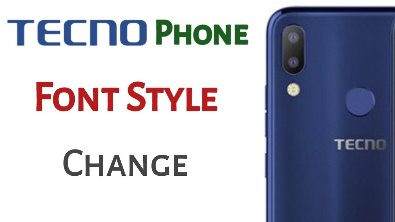 How to change Tecno Phone Front Style | No Root | By Mk