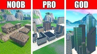 Fortnite NOOB vs PRO vs GOD: CITY BUILD CHALLENGE in Fortnite