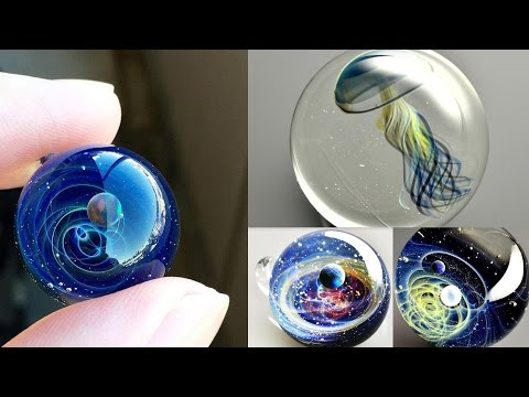 Вселенная в маленьких стеклянных шариках Сатоши Томизу Satoshi Tomizu Space Glass