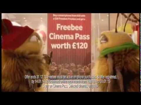Vodafone - Freebee Cinema Pass - Christmas 2013