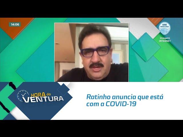 Ratinho anuncia que está com a COVID-19 e manda recado para os inimigos