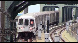 ᴴᴰ F and G Train Action at 4th Avenue