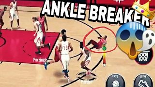Top 10 Crazy Ankle Breakers in NBA LIVE MOBILE! #1