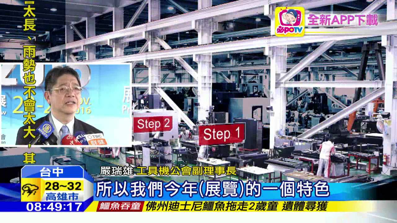 20160616中天新聞 工業4.0浪潮來襲! 臺灣工具機展焦點 - YouTube