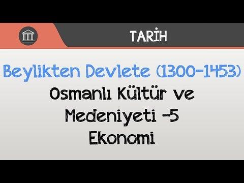 Beylikten Devlete (1300-1453) - Osmanlı Kültür ve Medeniyeti -5 / Ekonomi