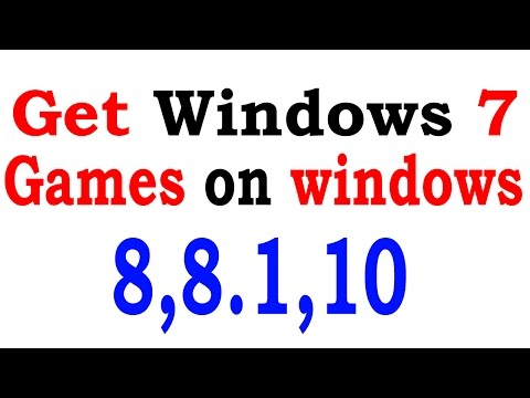 How To Get Windows 7 Games | Chess Titans |  In Windows 8,8.1,10 Easy Steps