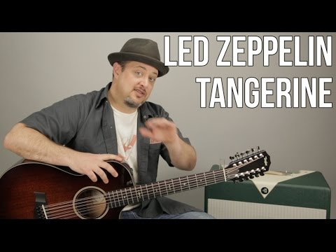 Led Zeppelin  Tangerine  How to Play on Guitar  Acoustic  12 String