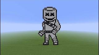 *MARSHMELLO* Fortnite Skin Pixel Art - Minecraft Tutorial