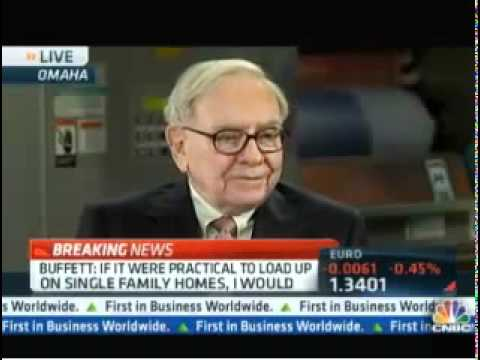 Warren Buffet commented about Single Family Homes Rental Properties on CNBC