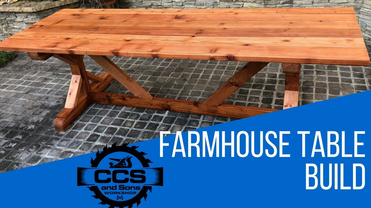 Exceptionnel DIY Redwood Farmhouse Table Build