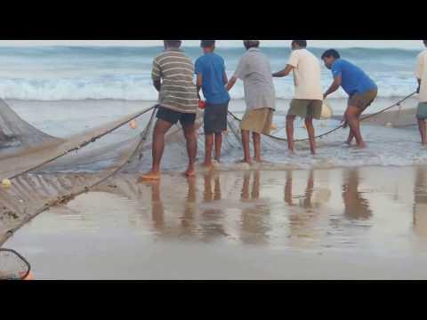 Fishing at Chiwla beach, Malwan