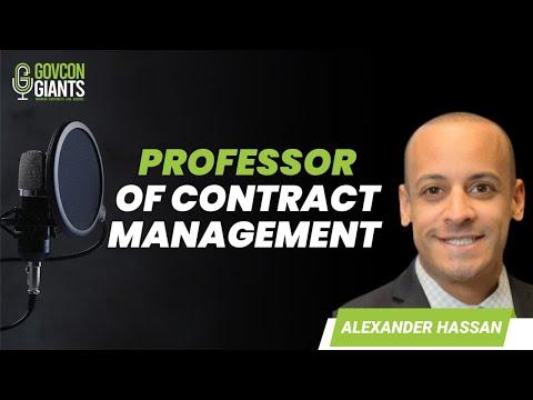 025: Alexander Hassan - Professor of Contract Management