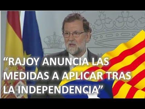 Comparecencia MARIANO RAJOY tras la PROCLAMACION de la INDEPENDENCIA de CATALUÑA