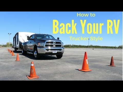 """How to back up an RV / Trailer """"tail swing"""""""