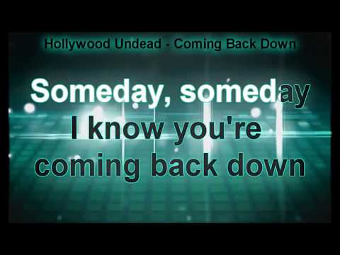 Hollywood Undead - Coming Back Down (Karaoke Version)
